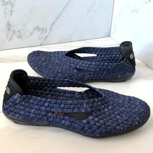 Bernie Mev. Catwalk Woven Casual Slip-On Shoes